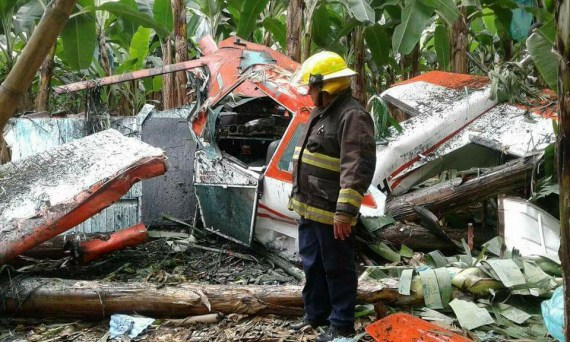 Fracturas múltiples por accidente en avioneta